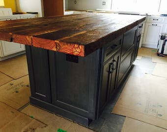 Bon Custom Kitchen Island Countertop Countertop Rustic Butcher Block Countertop Counter  Height Table Reclaimed Wood Countertop Pinewood