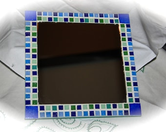 Decorated with mirror mosaic blue and green