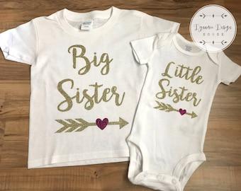 Big Sister Little Sister Set, Big Sister, Little Sister,Matching Sister Set, Little Sister Big Sister Set, New Baby Sister, New Sister Set