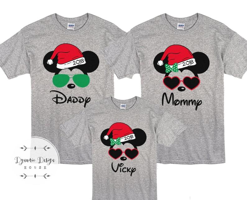 73fc41a40 Disney Family Christmas Shirts Disney Shirts Santa Mickey | Etsy