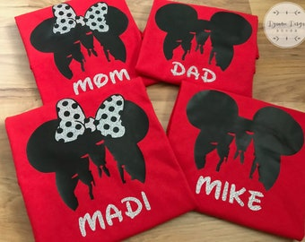 Disney Shirts, Disney Family Shirts, Disney Shirts for Family, Disney Glitter Shirts, Personalized Disney Shirts, Matching Disney Shirts