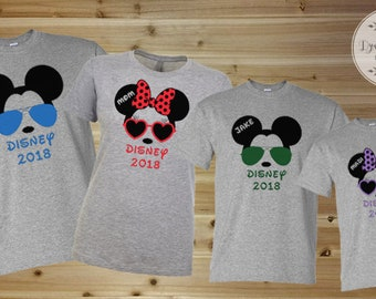 Disney Shirts, Disney Family Shirts, Family Shirt Set, Family Vacation Shirts, Personalized Disney Shirts, Trip Shirts, Disneyworld Shirts