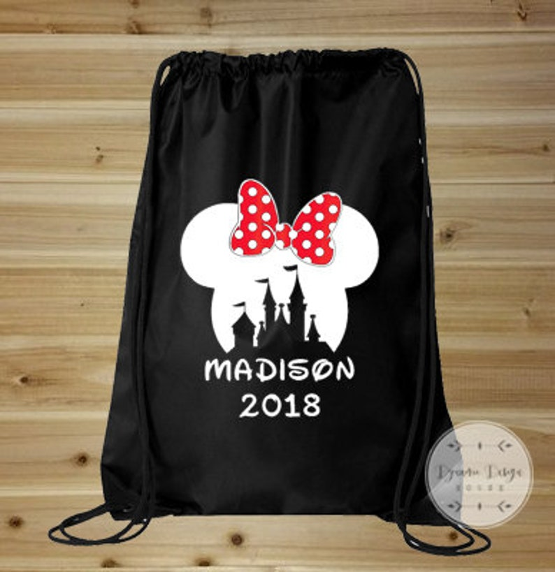 b6d1ee4fd92 Disney Vacation Bag Mickey Mouse Bag Drawstring Bag Mickey
