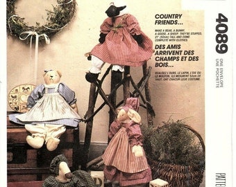 """McCall/'s 4089 20/"""" Country Friends /& Clothes Pattern"""