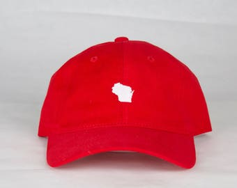 Red Wisconsin Hat