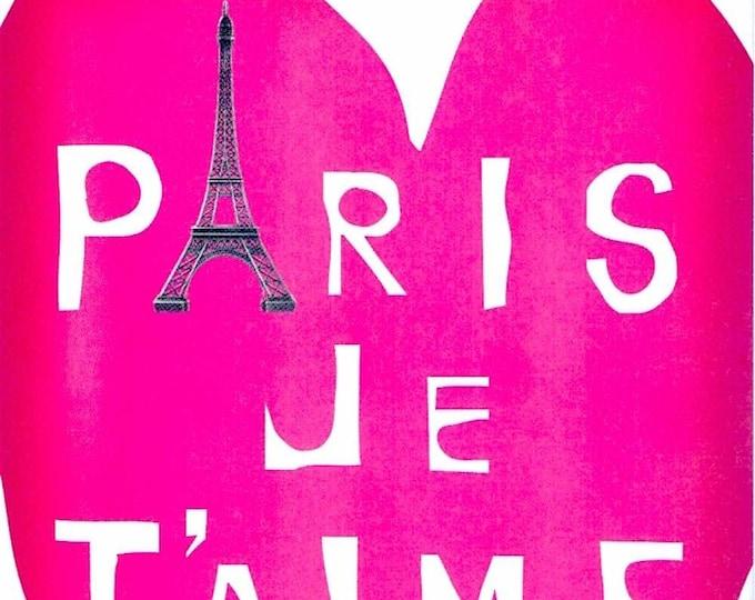Paris Je T'aime (B) | European Cinema, Juliette Binoche | 2007 print | Japanese chirashi film poster