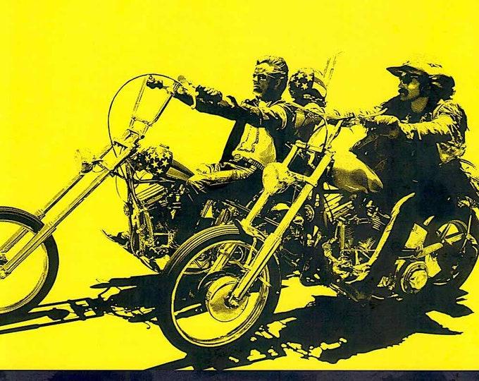 Easy Rider + The American Dreamer | 60s Cult Classic, Dennis Hopper | 2020 print, gatefold | Japanese chirashi film poster