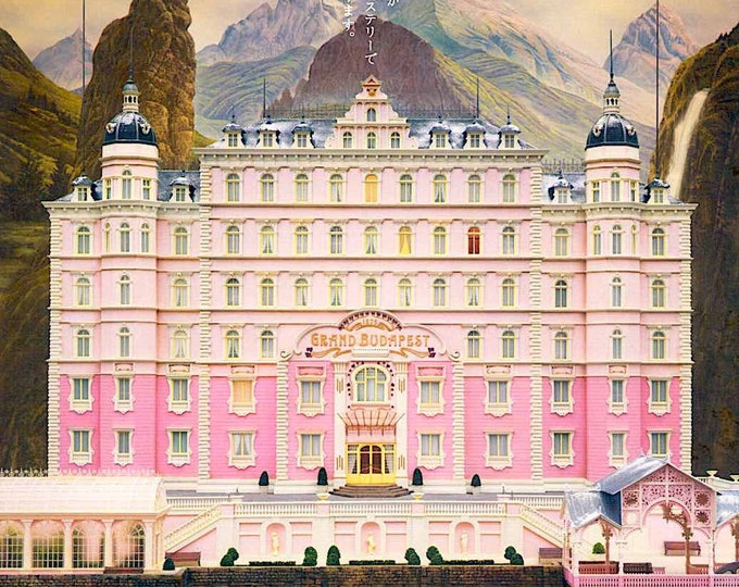 Grand Budapest Hotel (A) | Wes Anderson, Ralph Fiennes, Tilda Swinton | 2014 original print | Japanese chirashi film poster
