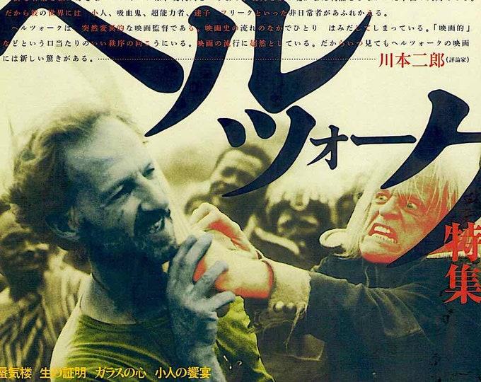Werner Herzog Retrospective (A)   German Cinema Classic, Klaus Kinski   2000 print   Japanese chirashi film poster