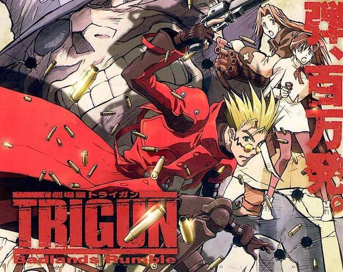 Trigun: Badlands Rumble | Japan Anime | 2010 original print | Japanese chirashi film poster