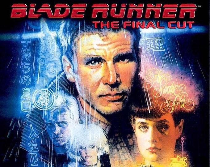 Blade Runner (B) | 80s Cult Sci-fi, Harrison Ford, Ridley Scott | 2017 print | Japanese chirashi film poster