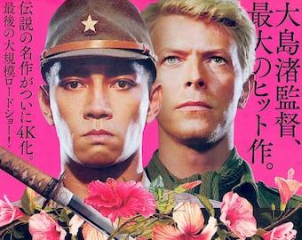 Merry Christmas Mr Lawrence (B) | 80s Japan Cinema, David Bowie, Ryuichi Sakamoto | 2021 print | Japanese chirashi film poster