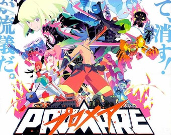 Promare (B) | Japan Anime, Studio Trigger | 2019 original print, gatefold | Japanese chirashi film poster