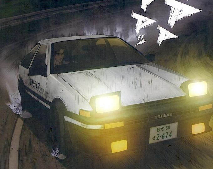 Initial D: Legend 1 | Japan Anime Series, Shuichi Shigeno | 2014 original print | Japanese chirashi film poster