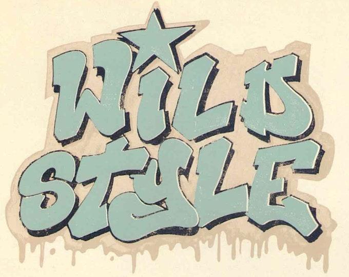 Wild Style (C) | Cult Classic 80s Hip Hop Movie | 2015 print | Japanese chirashi film poster