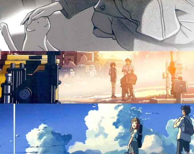 Makoto Shinkai Retrospective | Japan Anime Classics | 2016 print | Japanese chirashi film poster