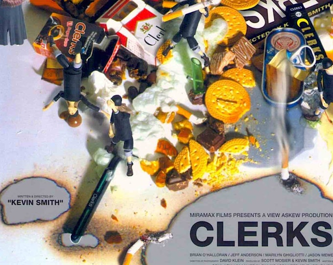 Clerks | 90s Independent American Cinema, Kevin Smith  | 2000 original print | Japanese chirashi film poster