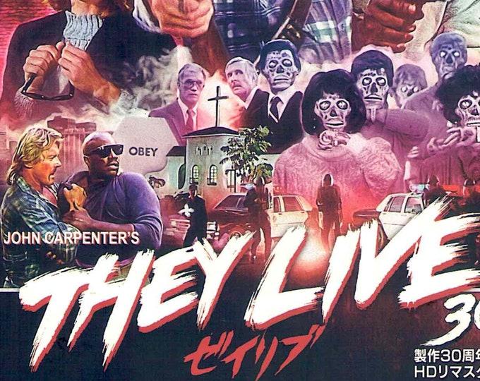 They Live (B)   80s Cult Movie, John Carpenter   2018 print   Japanese chirashi film poster