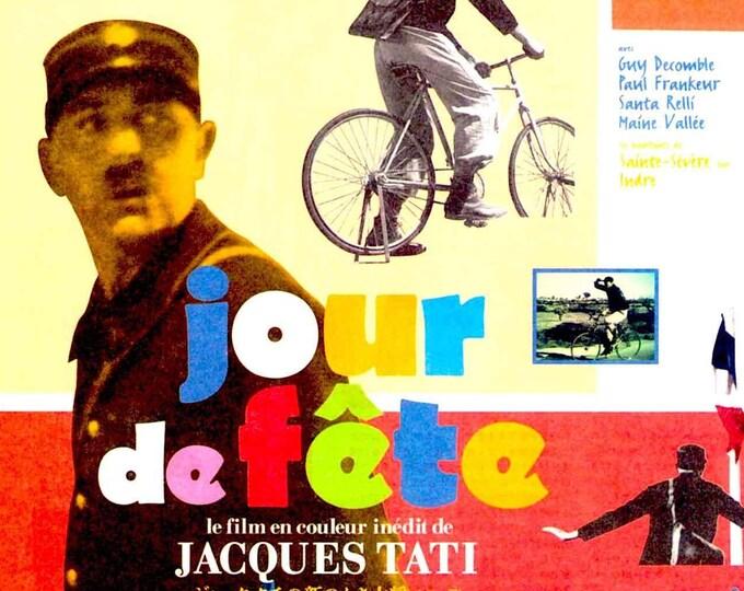 Jour de fete | 40s French Classic, Jacques Tati | 1995 print | vintage Japanese chirashi film poster