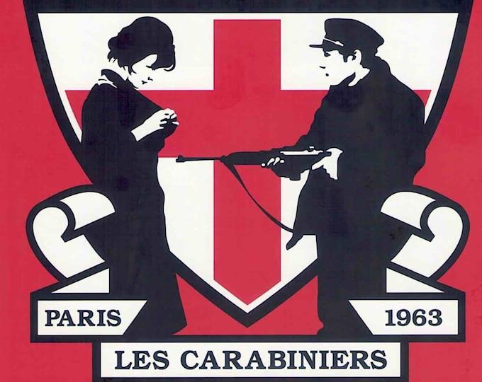 Les Carabiniers | 60s French Classic, Jean-Luc Godard | 2001 print | Japanese chirashi film poster