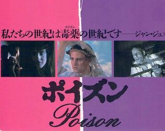 Poison | 90s New Queer Cinema, Todd Haynes | 1993 original print | vintage Japanese chirashi film poster