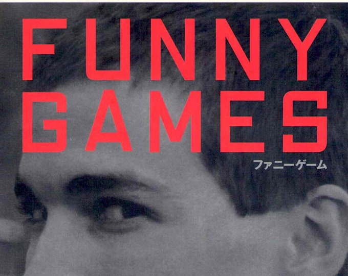 Funny Games | 90s European Cinema, Michael Haneke | 2001 original print | Japanese chirashi film poster