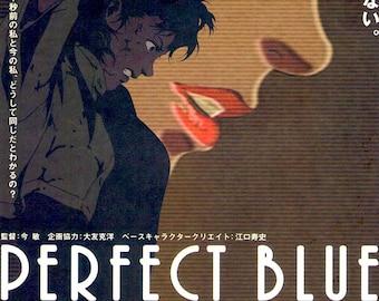 Perfect Blue | 90s Anime Cult Classic, Satoshi Kon | 1998 original print | vintage Japanese chirashi film poster
