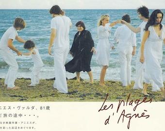 Beaches of Agnès (A) | French Cinema, Agnes Varda | 2009 original print | Japanese chirashi film poster