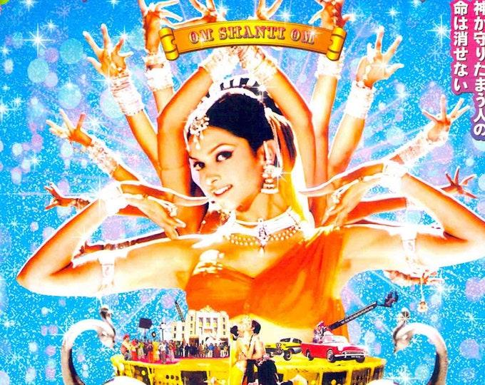Om Shanti Om   Bollywood, Shah Rukh Khan   2013 original print   Japanese chirashi film poster