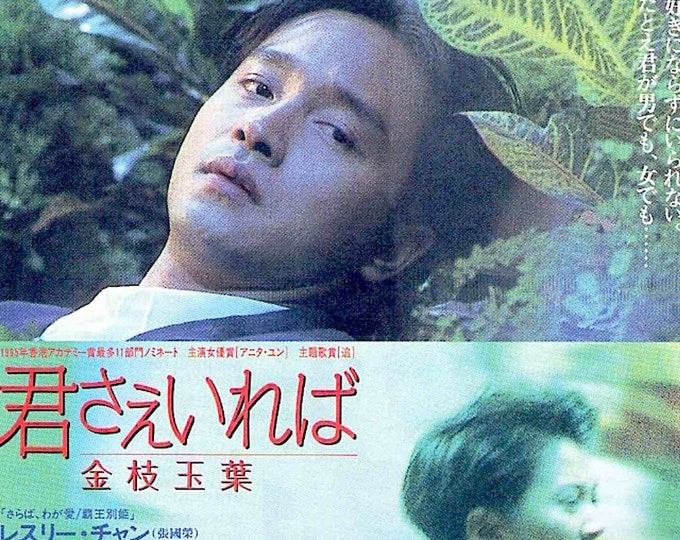 He's a Woman, She's a Man | 90s HK Classic, Leslie Cheung, Peter Chan | 1996 original print | vintage Japanese chirashi film poster