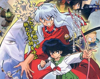 InuYasha The Movie 1 | Classic Anime, Rumiko Takahashi | 2001 original print | Japanese chirashi film poster
