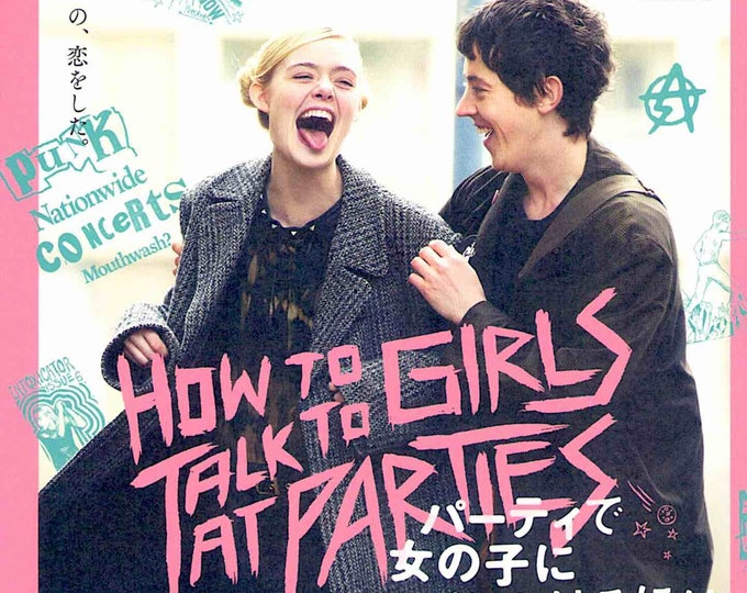 How to Talk to Girls at Parties | John Cameron Mitchell | 2017 original print | Japanese chirashi film poster