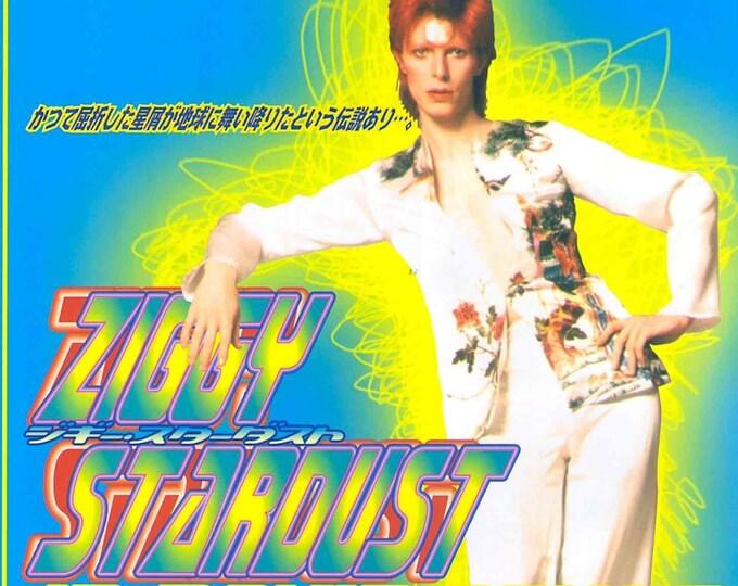 Ziggy Stardust (A) | David Bowie, DA Pennebaker Documentary | 1999 print | vintage Japanese chirashi film poster