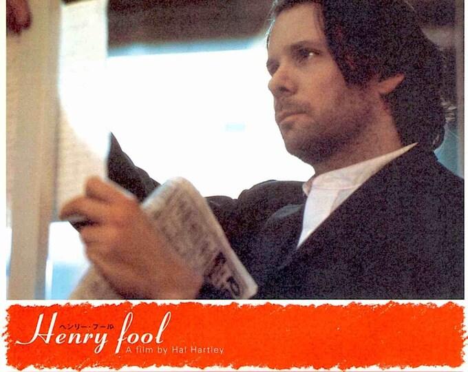 Henry Fool (A) | 90s Independent Classic, Hal Hartley | 1999 original print | vintage Japanese chirashi film poster