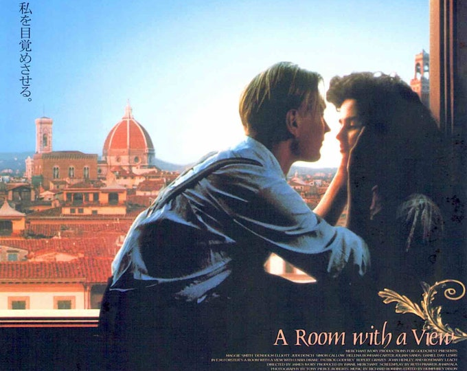 A Room With A View (C) | 80s UK Classic, Julian Sands, Helena Bonham Carter | 2001 print | Japanese chirashi film poster