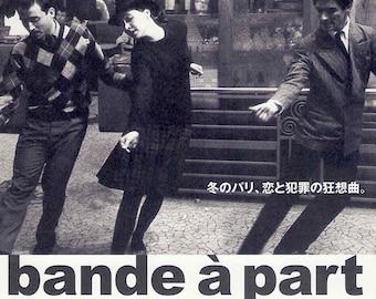 Band of Outsiders (B) | 60s French Cinema, Anna Karina, Jean-Luc Godard | 2017 print | Japanese chirashi film poster