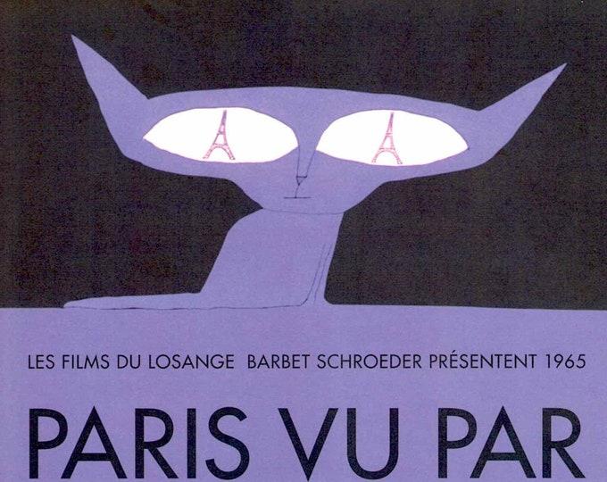 Paris vu par (B) | 60s French New Wave | Godard, Chabrol, Rohmer | 2005 print | Japanese chirashi film poster