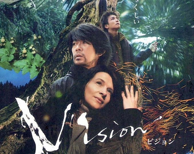 Vision (A)   Japan Cinema, Juliette Binoche, Naomi Kawase   2018 original print   Japanese chirashi film poster