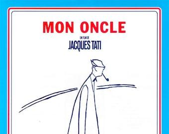 Mon Oncle | 50s French Cinema, Jacques Tati | 1999 print | vintage Japanese chirashi film poster