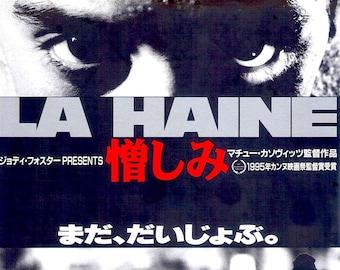 La Haine (B) | 90s Cult French Cinema, Mathieu Kassovitz, Vincent Cassel | 1998 print | vintage Japanese chirashi film poster