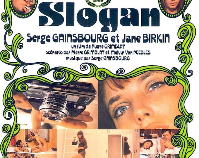 Slogan (A) | 60s French Cinema | first Birkin +Gainsbourg film | 1995 print | vintage Japanese chirashi film poster