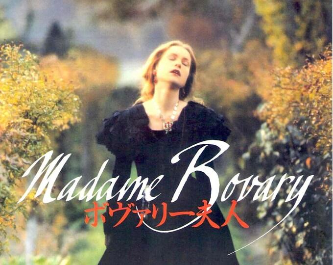 Madame Bovary | 90s French Cinema, Isabelle Huppert, Claude Chabrol | 1992 original print | vintage Japanese chirashi film poster