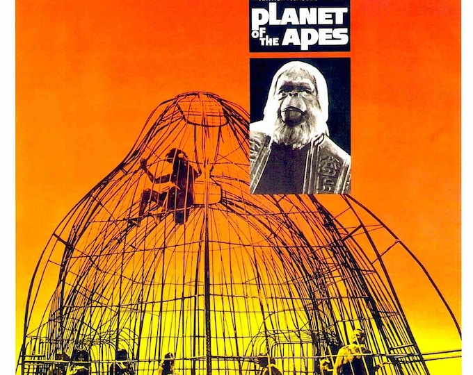 Planet of the Apes | 60s Cult Classic, Charlton Heston | 1999 print | vintage Japanese chirashi film poster