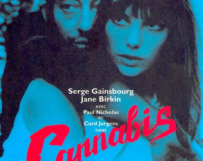 Cannabis | 60s Jane Birkin, Serge Gainsbourg | 1996 print | vintage Japanese chirashi film poster