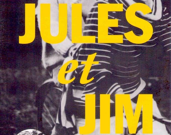 Jules And Jim (A) | 60s French Classic, Jeanne Moreau, François Truffaut | 1999 print | vintage Japanese chirashi film poster