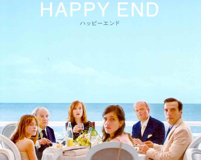 Happy End | European Cinema, Michael Haneke | 2018 original print | Japanese chirashi film poster