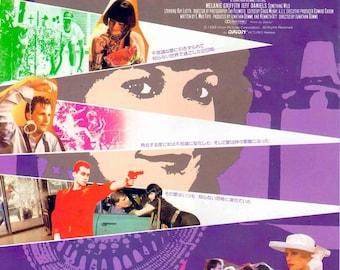 Something Wild | 80s Cult Classic, Jonathan Demme, Melanie Griffith | 1988 original print | vintage Japanese chirashi film poster