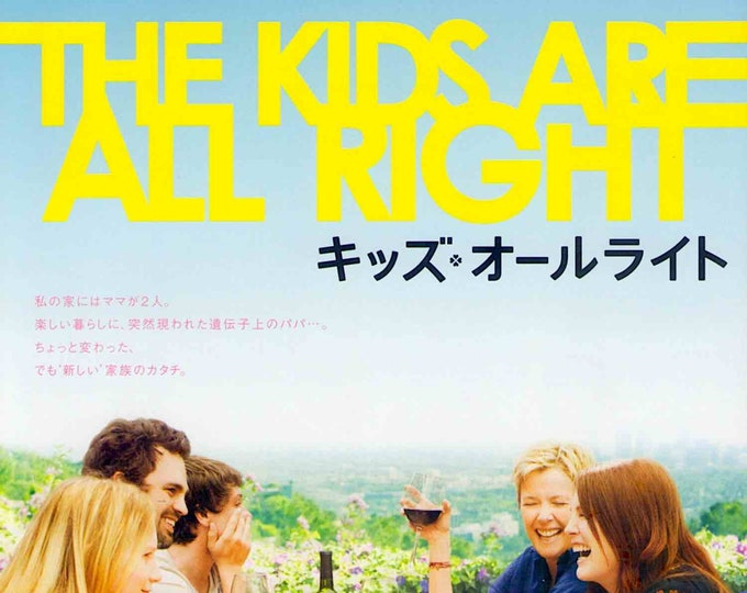 Kids are All Right | US Cult Movie, Annette Bening | 2011 original print | Japanese chirashi film poster