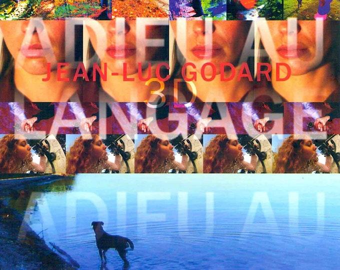 Goodbye to Language | French Cinema, Jean-Luc Godard | 2015 original print | Japanese chirashi film poster