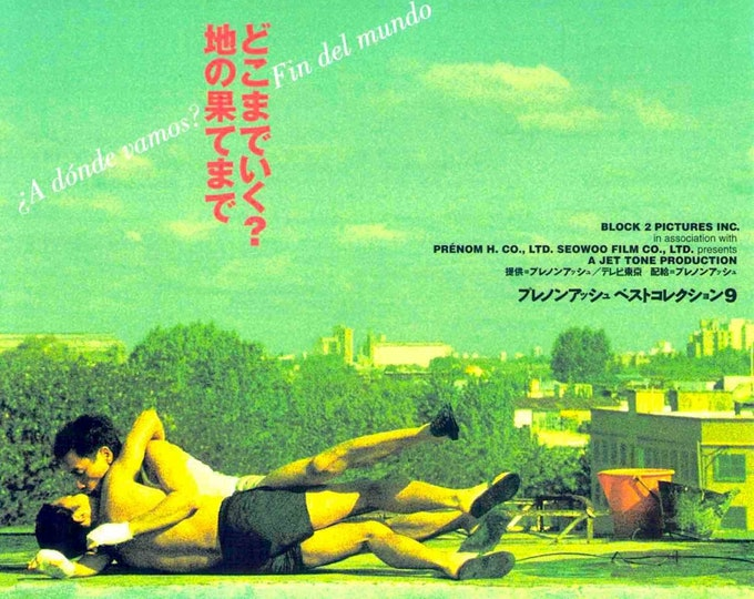 Happy Together | 90s HK Classic, Wong Kar Wai | 1997 original print | vintage Japanese chirashi film poster